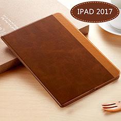 Custodia Portafoglio In Pelle con Supporto L06 per Apple New iPad 9.7 (2017) Marrone
