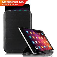 Custodia Portafoglio In Pelle con Supporto L06 per Huawei MediaPad M5 8.4 SHT-AL09 SHT-W09 Nero