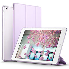 Custodia Portafoglio In Pelle con Supporto L07 per Apple iPad Mini Viola