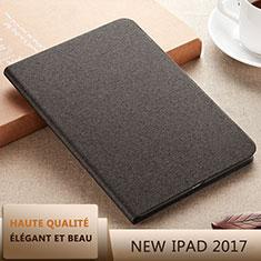 Custodia Portafoglio In Pelle con Supporto L07 per Apple New iPad 9.7 (2017) Nero
