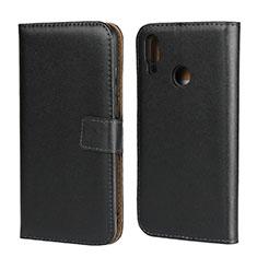 Custodia Portafoglio In Pelle con Supporto L07 per Huawei Honor 10 Lite Nero