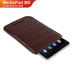 Custodia Portafoglio In Pelle con Supporto L07 per Huawei MediaPad M5 8.4 SHT-AL09 SHT-W09 Marrone