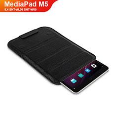 Custodia Portafoglio In Pelle con Supporto L07 per Huawei MediaPad M5 8.4 SHT-AL09 SHT-W09 Nero