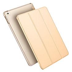 Custodia Portafoglio In Pelle con Supporto L09 per Apple New iPad 9.7 (2017) Oro