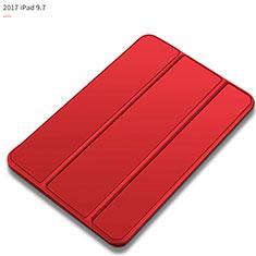 Custodia Portafoglio In Pelle con Supporto L09 per Apple New iPad 9.7 (2017) Rosso