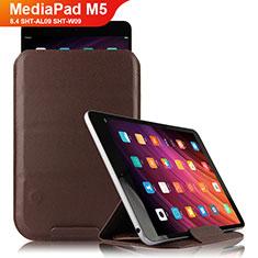 Custodia Portafoglio In Pelle con Supporto L09 per Huawei MediaPad M5 8.4 SHT-AL09 SHT-W09 Marrone