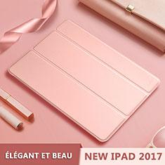 Custodia Portafoglio In Pelle con Supporto L10 per Apple New iPad 9.7 (2017) Oro Rosa