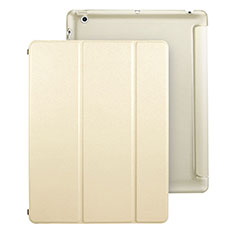 Custodia Portafoglio In Pelle con Supporto per Apple iPad 3 Oro