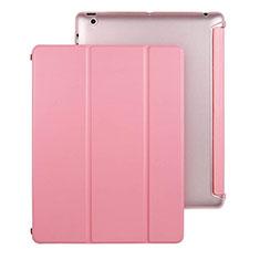 Custodia Portafoglio In Pelle con Supporto per Apple iPad 3 Rosa