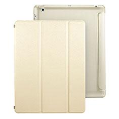 Custodia Portafoglio In Pelle con Supporto per Apple iPad 4 Oro