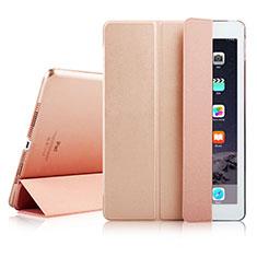 Custodia Portafoglio In Pelle con Supporto per Apple iPad Air 2 Oro Rosa