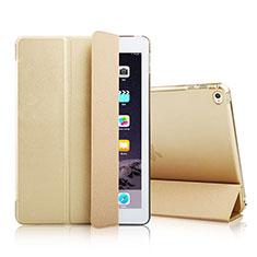 Custodia Portafoglio In Pelle con Supporto per Apple iPad Mini 4 Oro