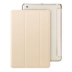 Custodia Portafoglio In Pelle con Supporto per Apple iPad Mini Oro