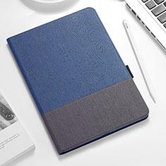 Custodia Portafoglio In Pelle con Supporto per Apple iPad Pro 12.9 (2018) Blu e Nero