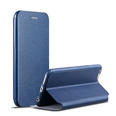 Custodia Portafoglio In Pelle con Supporto per Apple iPhone 6S Plus Blu