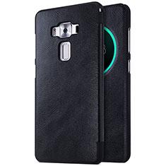 Custodia Portafoglio In Pelle con Supporto per Asus Zenfone 3 Deluxe ZS570KL ZS550ML Nero