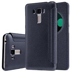 Custodia Portafoglio In Pelle con Supporto per Asus Zenfone 3 Laser Nero