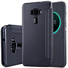Custodia Portafoglio In Pelle con Supporto per Asus Zenfone 3 ZE552KL Nero