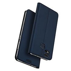 Custodia Portafoglio In Pelle con Supporto per Asus Zenfone 3 Zoom Blu