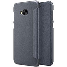 Custodia Portafoglio In Pelle con Supporto per Asus Zenfone 4 Selfie Pro Nero