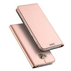 Custodia Portafoglio In Pelle con Supporto per Asus Zenfone 4 Selfie Pro Oro Rosa