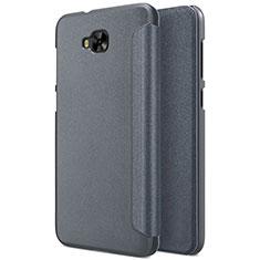 Custodia Portafoglio In Pelle con Supporto per Asus Zenfone 4 Selfie ZD553KL Grigio