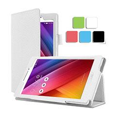 Custodia Portafoglio In Pelle con Supporto per Asus ZenPad C 7.0 Z170CG Bianco