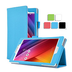 Custodia Portafoglio In Pelle con Supporto per Asus ZenPad C 7.0 Z170CG Cielo Blu