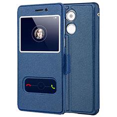 Custodia Portafoglio In Pelle con Supporto per Huawei Enjoy 6S Blu