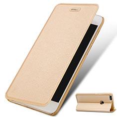 Custodia Portafoglio In Pelle con Supporto per Huawei Enjoy 7 Oro