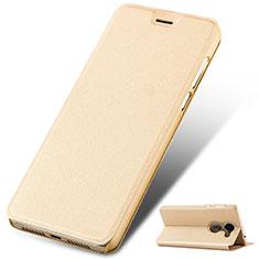 Custodia Portafoglio In Pelle con Supporto per Huawei Enjoy 7 Plus Oro