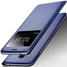 Custodia Portafoglio In Pelle con Supporto per Huawei G9 Plus Blu