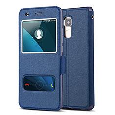 Custodia Portafoglio In Pelle con Supporto per Huawei GR5 Mini Blu