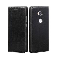 Custodia Portafoglio In Pelle con Supporto per Huawei GR5 Nero