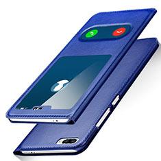Custodia Portafoglio In Pelle con Supporto per Huawei Honor 10 Blu