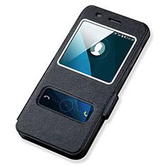 Custodia Portafoglio In Pelle con Supporto per Huawei Honor 4A Nero