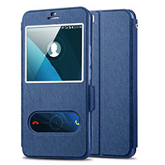 Custodia Portafoglio In Pelle con Supporto per Huawei Honor 6 Plus Blu
