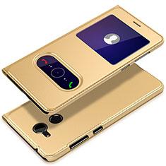 Custodia Portafoglio In Pelle con Supporto per Huawei Honor 6A Oro