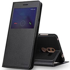 Custodia Portafoglio In Pelle con Supporto per Huawei Honor 6X Nero
