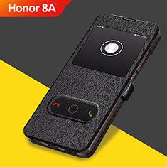 Custodia Portafoglio In Pelle con Supporto per Huawei Honor 8A Nero