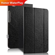 Custodia Portafoglio In Pelle con Supporto per Huawei Honor WaterPlay 10.1 HDN-W09 Nero
