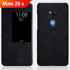 Custodia Portafoglio In Pelle con Supporto per Huawei Mate 20 X Nero