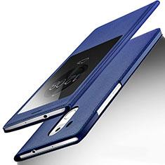 Custodia Portafoglio In Pelle con Supporto per Huawei Mate 8 Blu