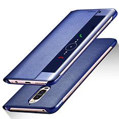 Custodia Portafoglio In Pelle con Supporto per Huawei Mate 9 Pro Blu