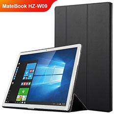 Custodia Portafoglio In Pelle con Supporto per Huawei MateBook HZ-W09 Nero
