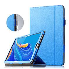 Custodia Portafoglio In Pelle con Supporto per Huawei MatePad 10.8 Blu