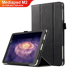 Custodia Portafoglio In Pelle con Supporto per Huawei MediaPad M2 10.1 FDR-A03L FDR-A01W Nero