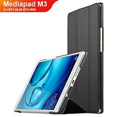 Custodia Portafoglio In Pelle con Supporto per Huawei Mediapad M3 8.4 BTV-DL09 BTV-W09 Nero