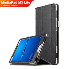 Custodia Portafoglio In Pelle con Supporto per Huawei MediaPad M3 Lite 8.0 CPN-W09 CPN-AL00 Nero