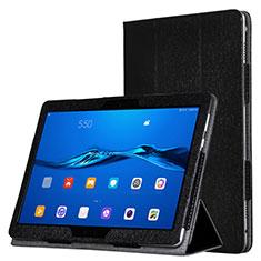 Custodia Portafoglio In Pelle con Supporto per Huawei MediaPad M3 Lite Nero